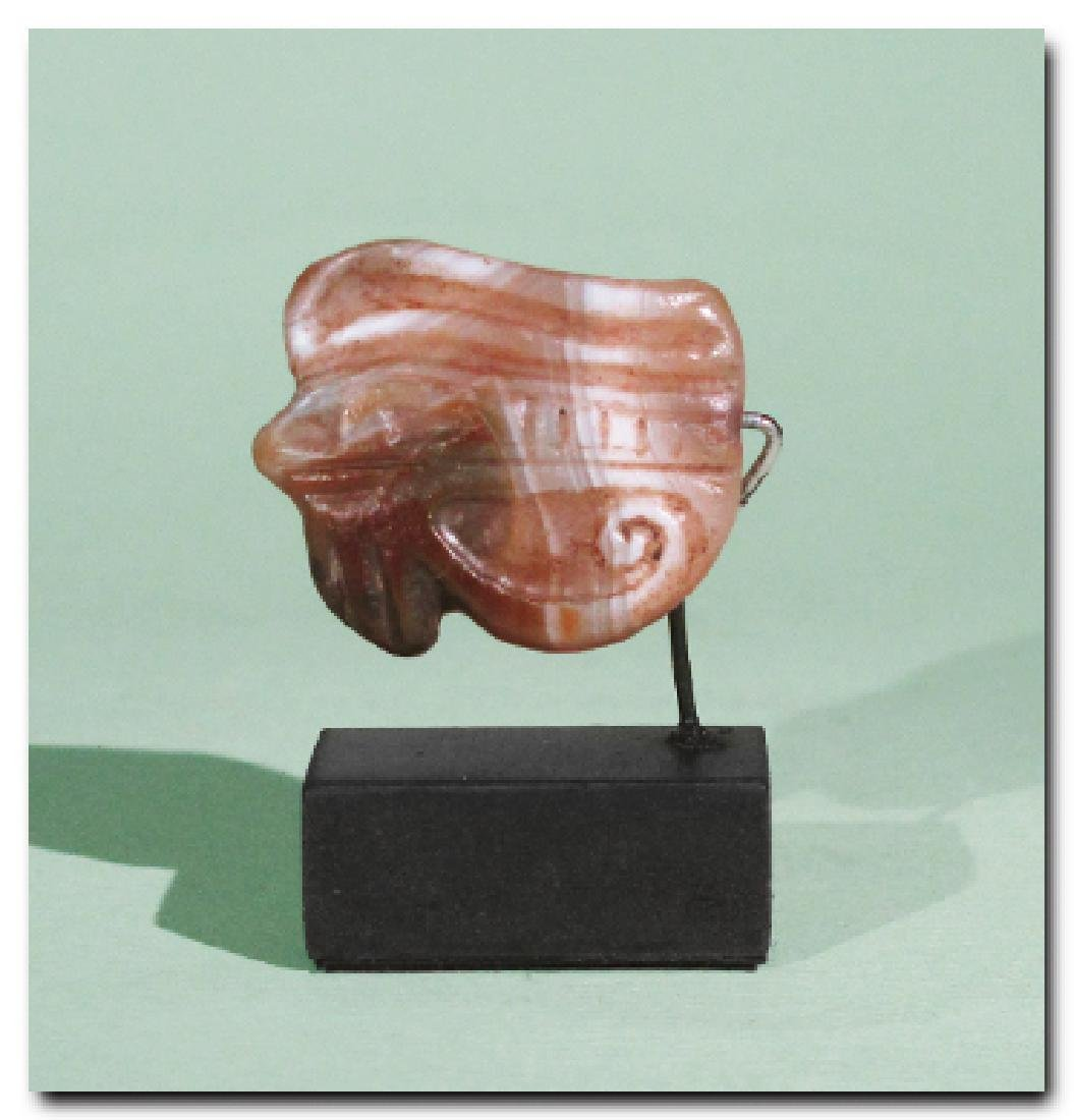 Egyptian Agate Eye Amulet, c. 300 B.C.
