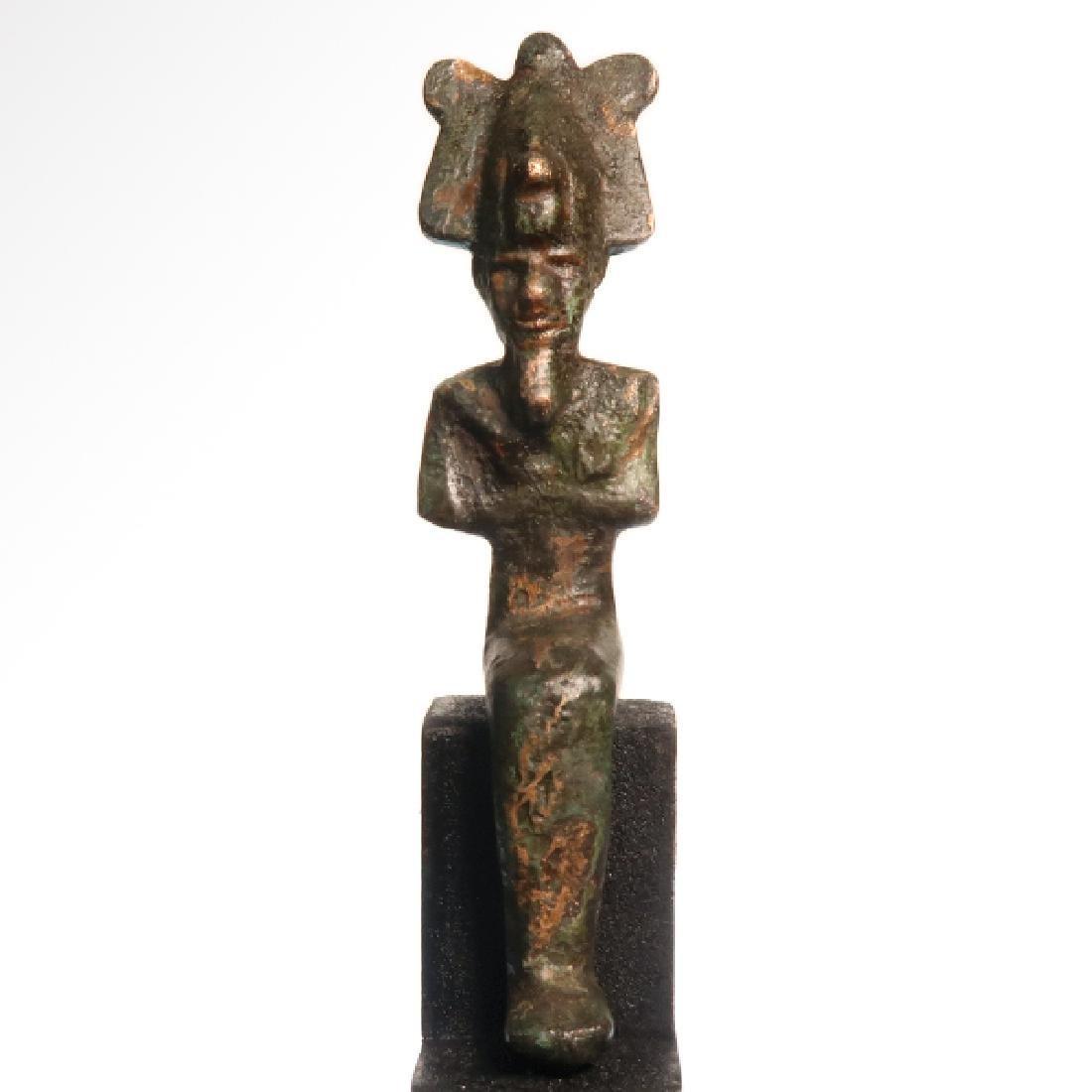 Small Egyptian Bronze Figure of Osiris, c. 600 B.C.