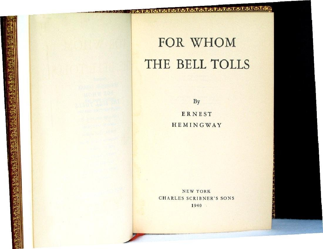 For Whom the Bell Tolls Hemingway Signed First Edition
