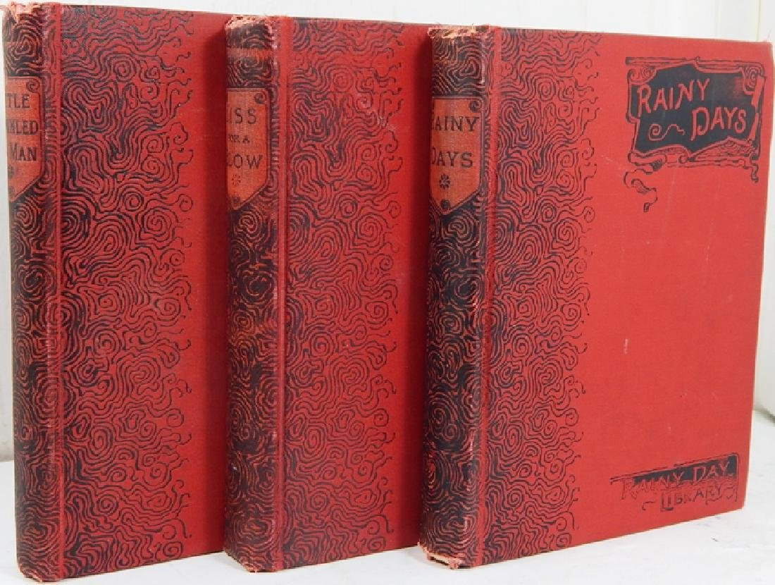 Rainy Day Library - Set of 3 (Illustrated) 1890 1st Ed
