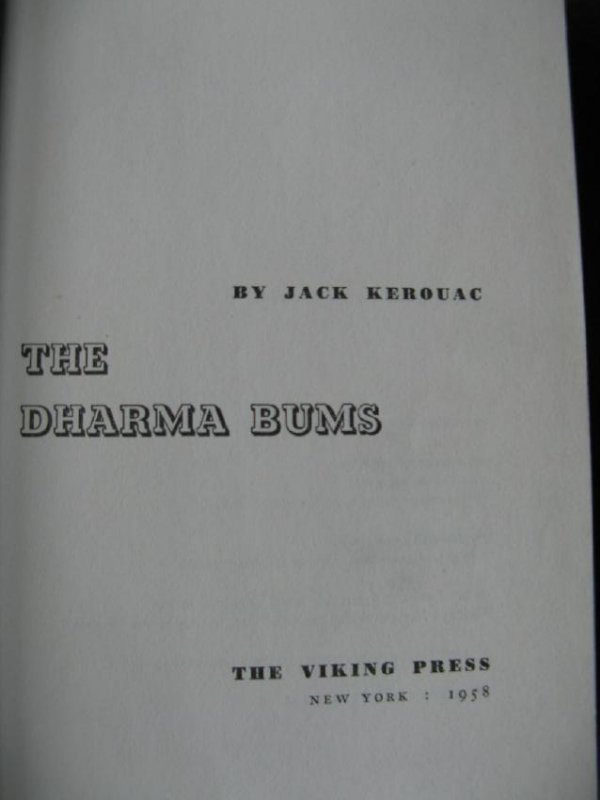 The Dharma Bums 1958 First printing
