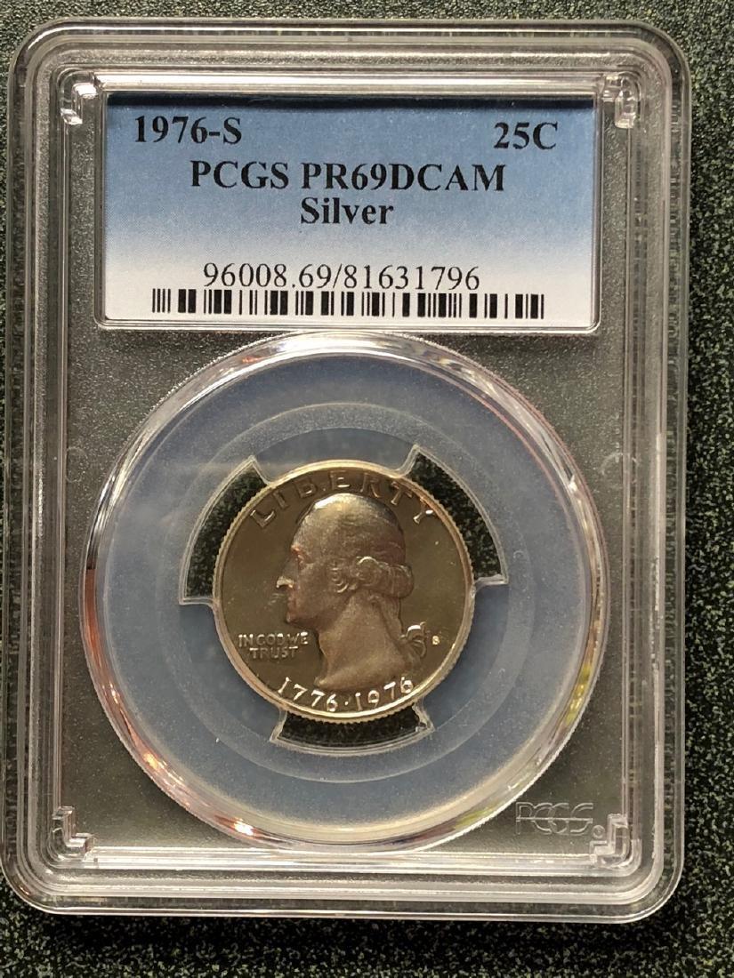 1976-S Washington Silver Quarter PR69DCAM - PCGS