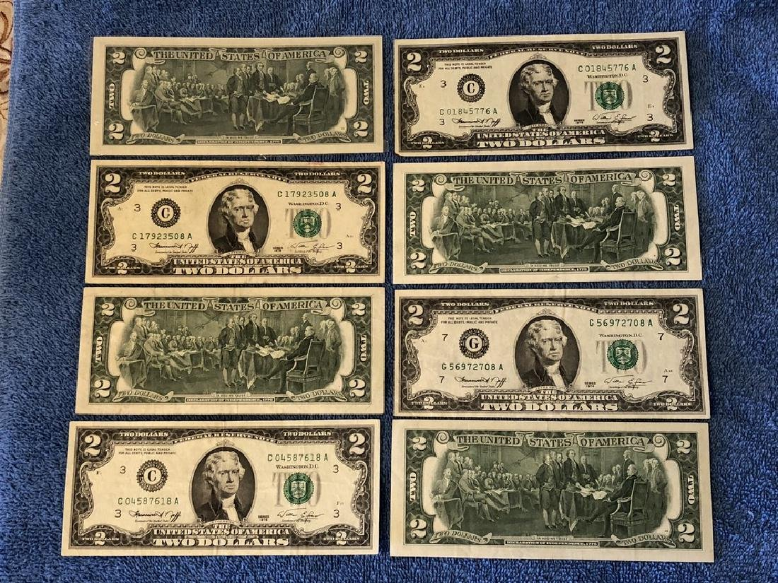 8 - $2 Fed Reserve Notes