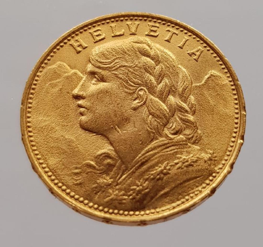 "Switzerland - 20 francs 1930 B ""Vreneli"" - gold"