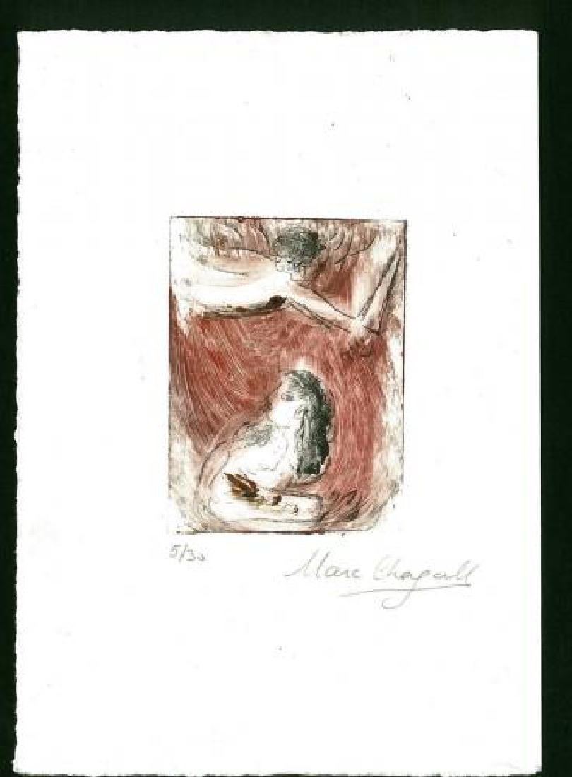 Chagall, Marc Etching Signed