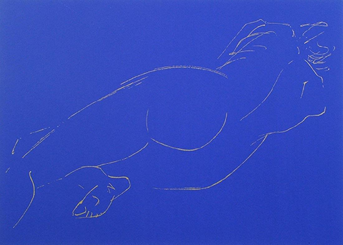 Yuyu Yang Serigraph Reclining Nude