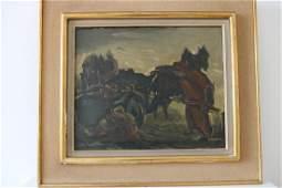 DANIEL DANWALK Paysan au travail Painting