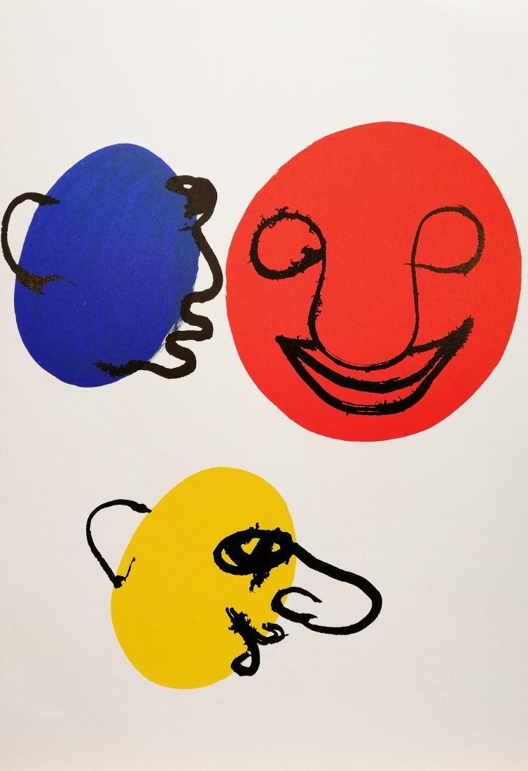 Alexander Calder Lithograph 3 faces