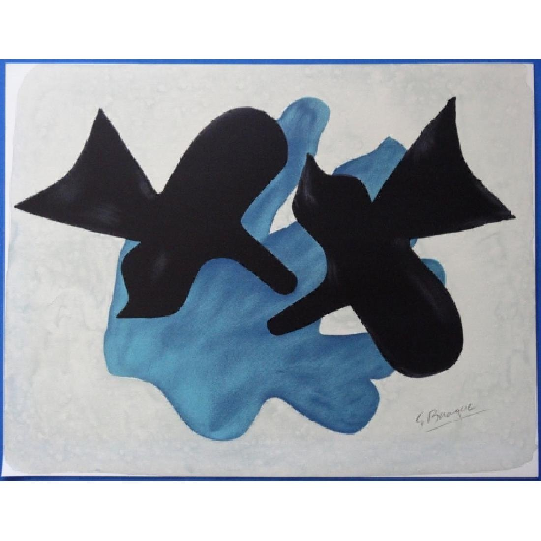 Georges BRAQUE Lithograph Two birds