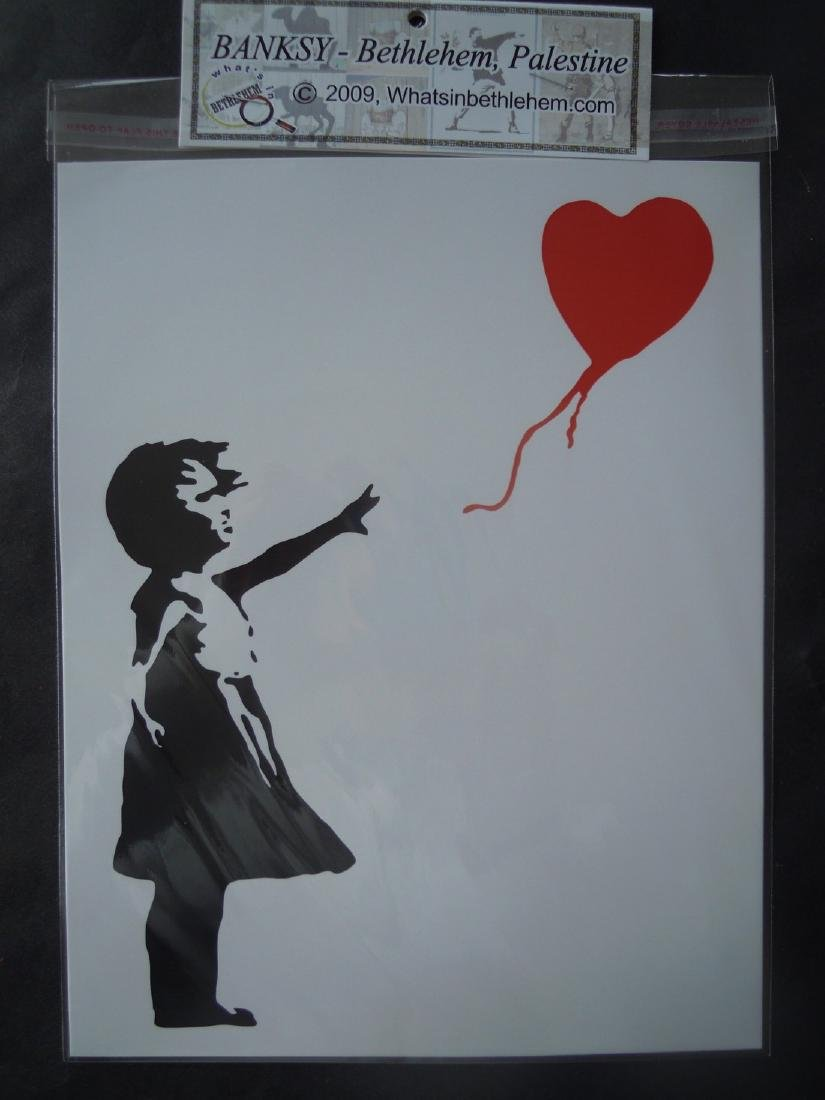 Five Banksy shop prints