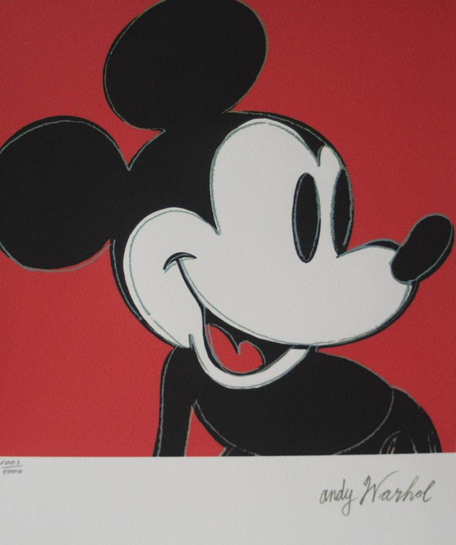 Andy Warhol Lithograph CMOA - Mickey Mouse
