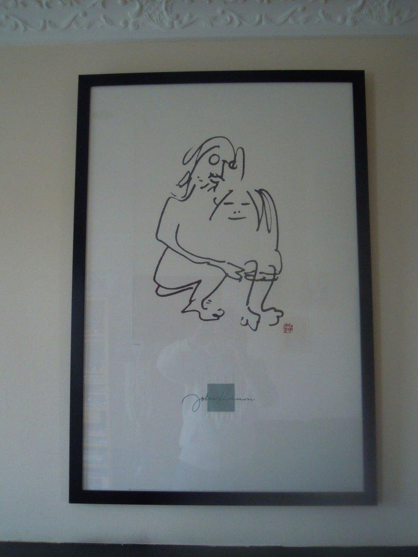 John Lennon Hug Lithograph