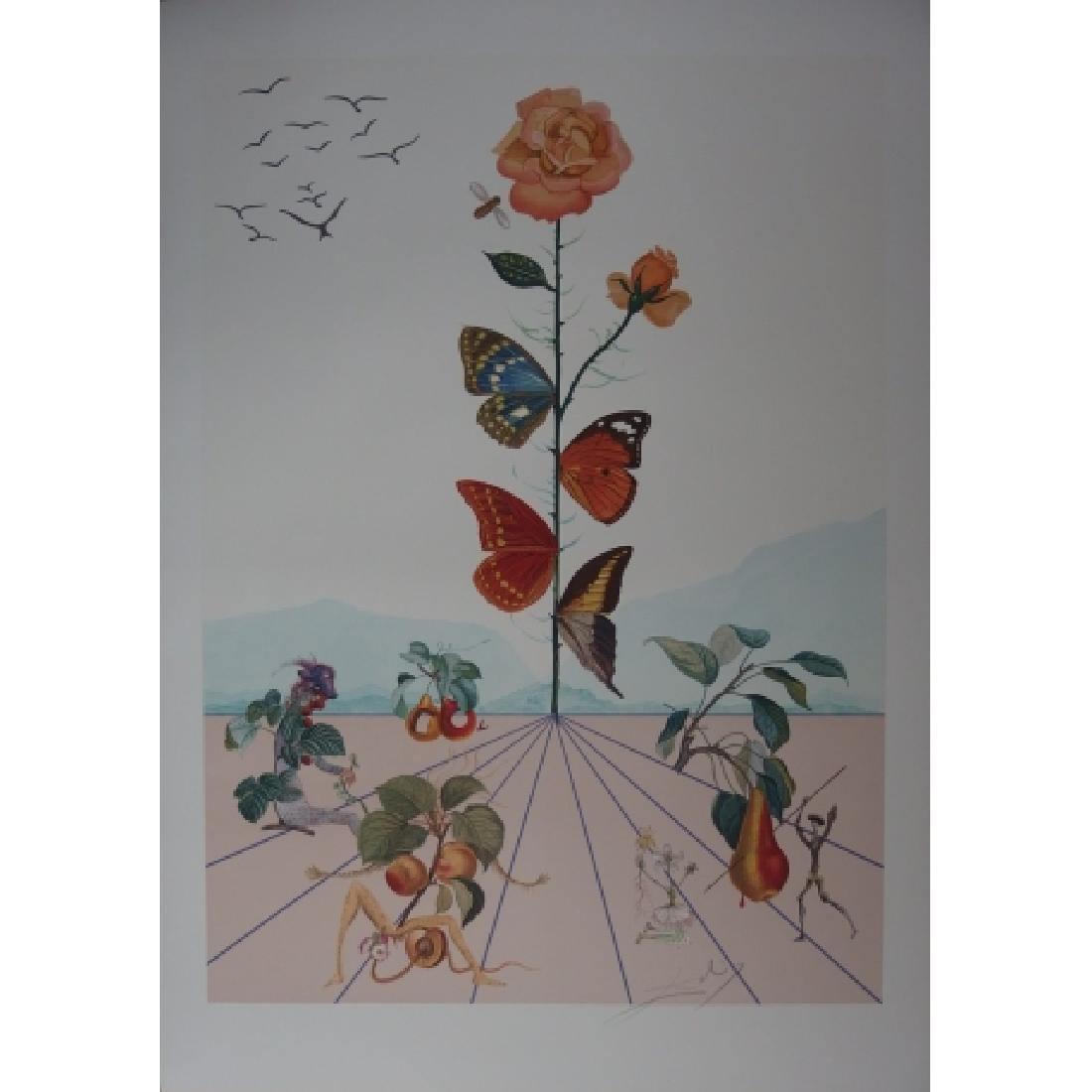 Salvador Dali  Lithograph Flordali II