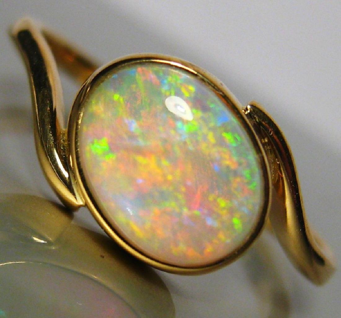 18k Gold Australian Opal Ring, 1.98ct