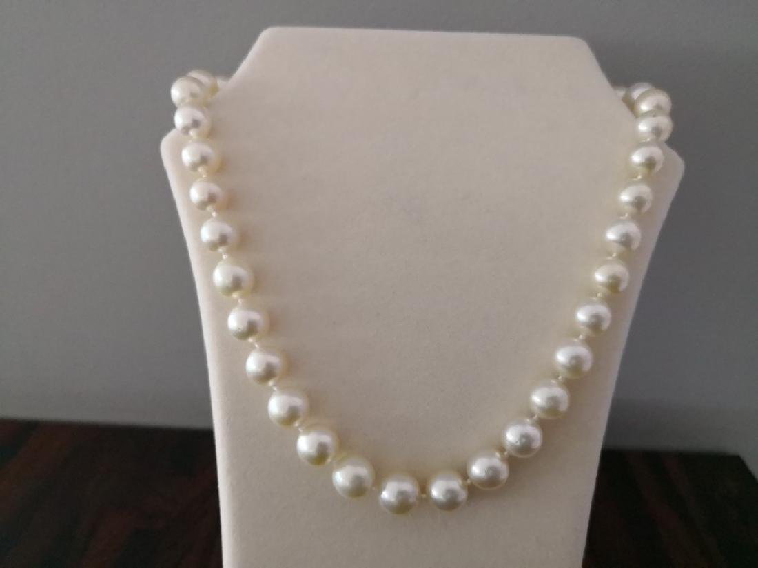 Necklace Australian South Sea Pearls 37 round shape