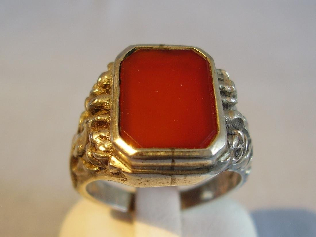 Antique mens ring with Carnelian