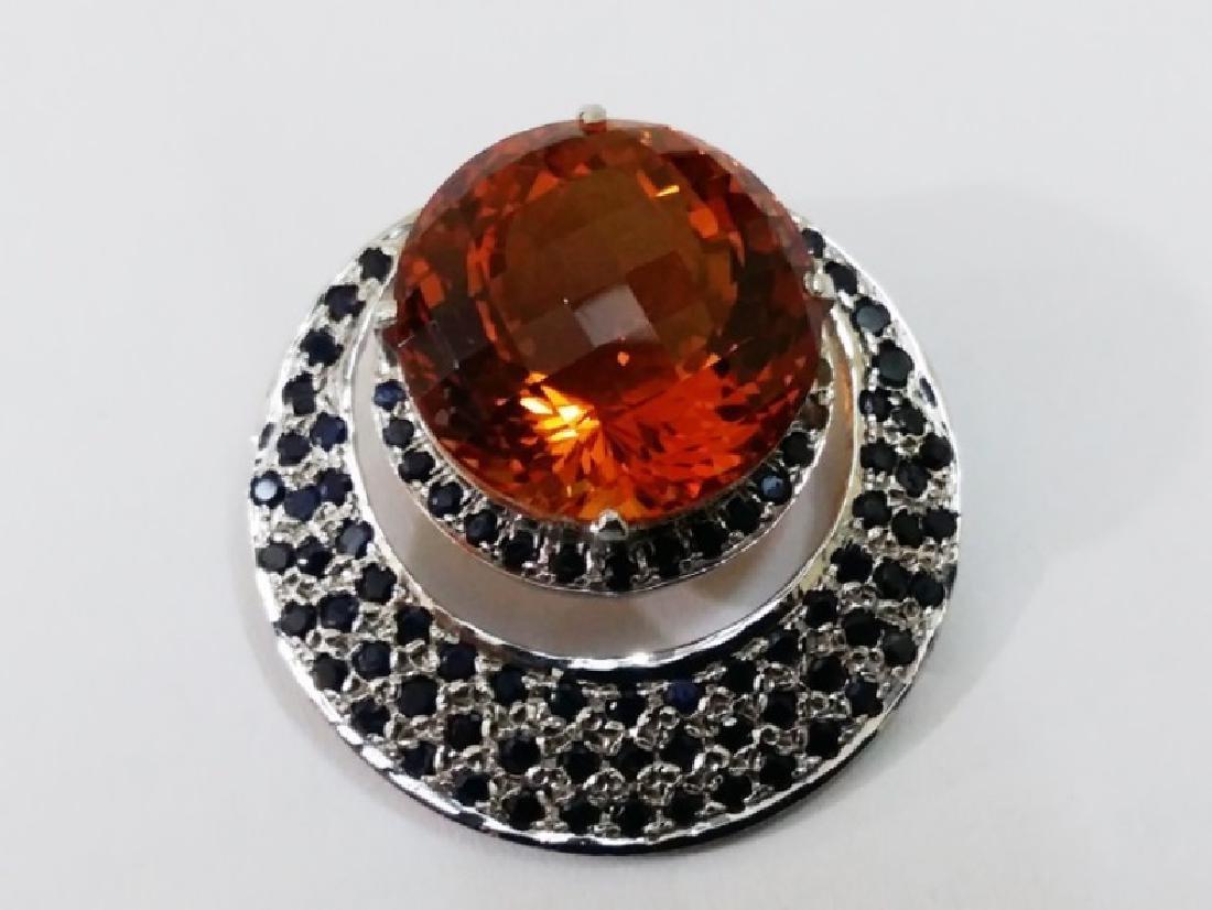 Citrine and Sapphire Pendant