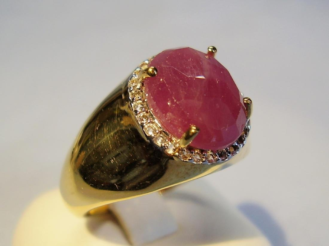 Ring with great ruby
