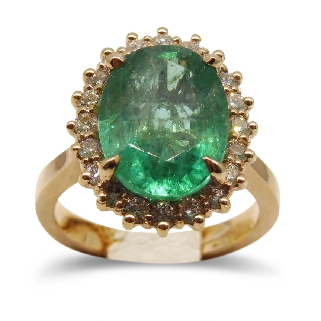5.17ct. Emerald Ring in 14kt Pink/Rose Gold GS