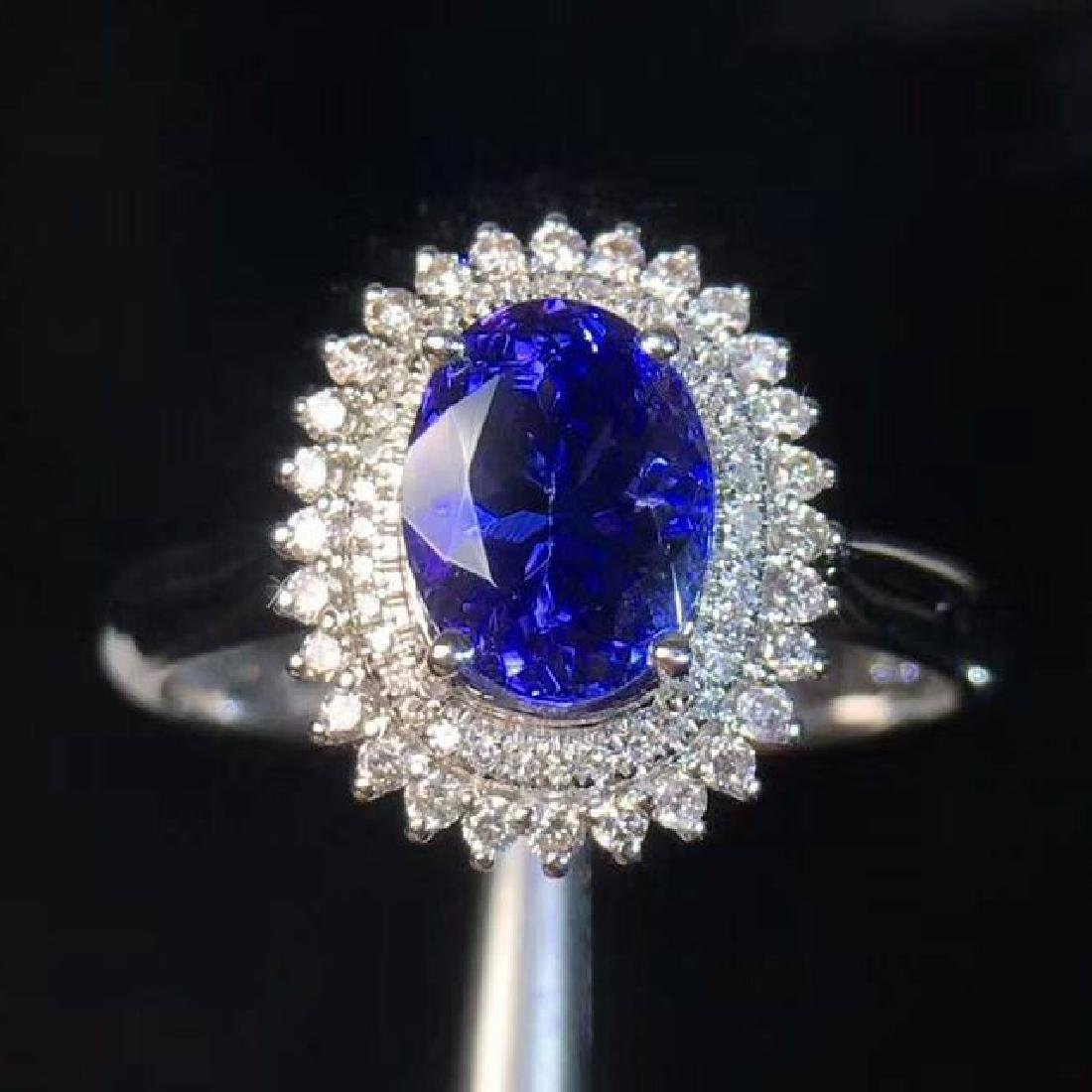 1.9ct Tanzanite Ring in 18kt White Gold
