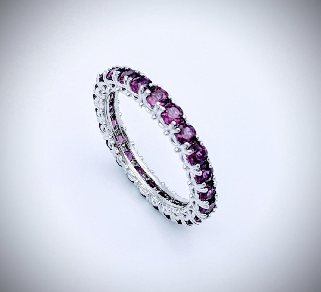Sterling Silver Amethyst Eternity Ring
