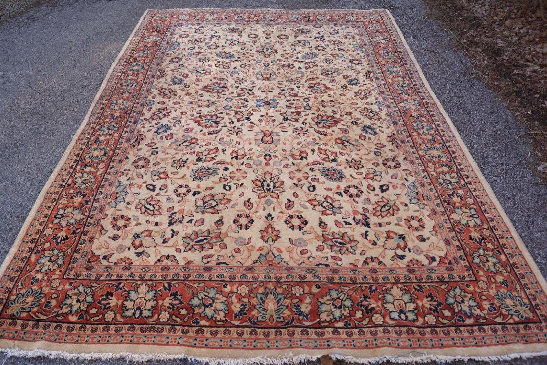Vintage Persian Sarouk Rug 6.2x9.2
