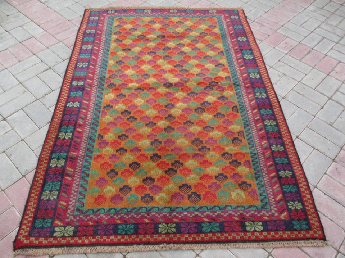 Contemporary Hand Knotted Baluchi Rug Rug 6x4.1