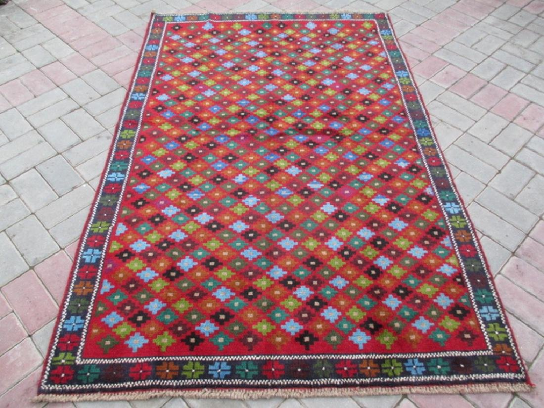 Contemporary Hand Knotted Baluchi Rug 6.5x4.2