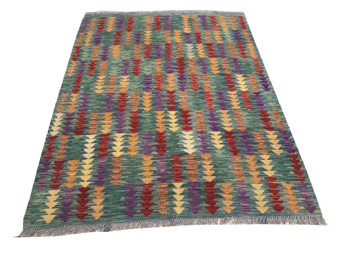 Hand Made Wool Kilim Rug 6.2x5