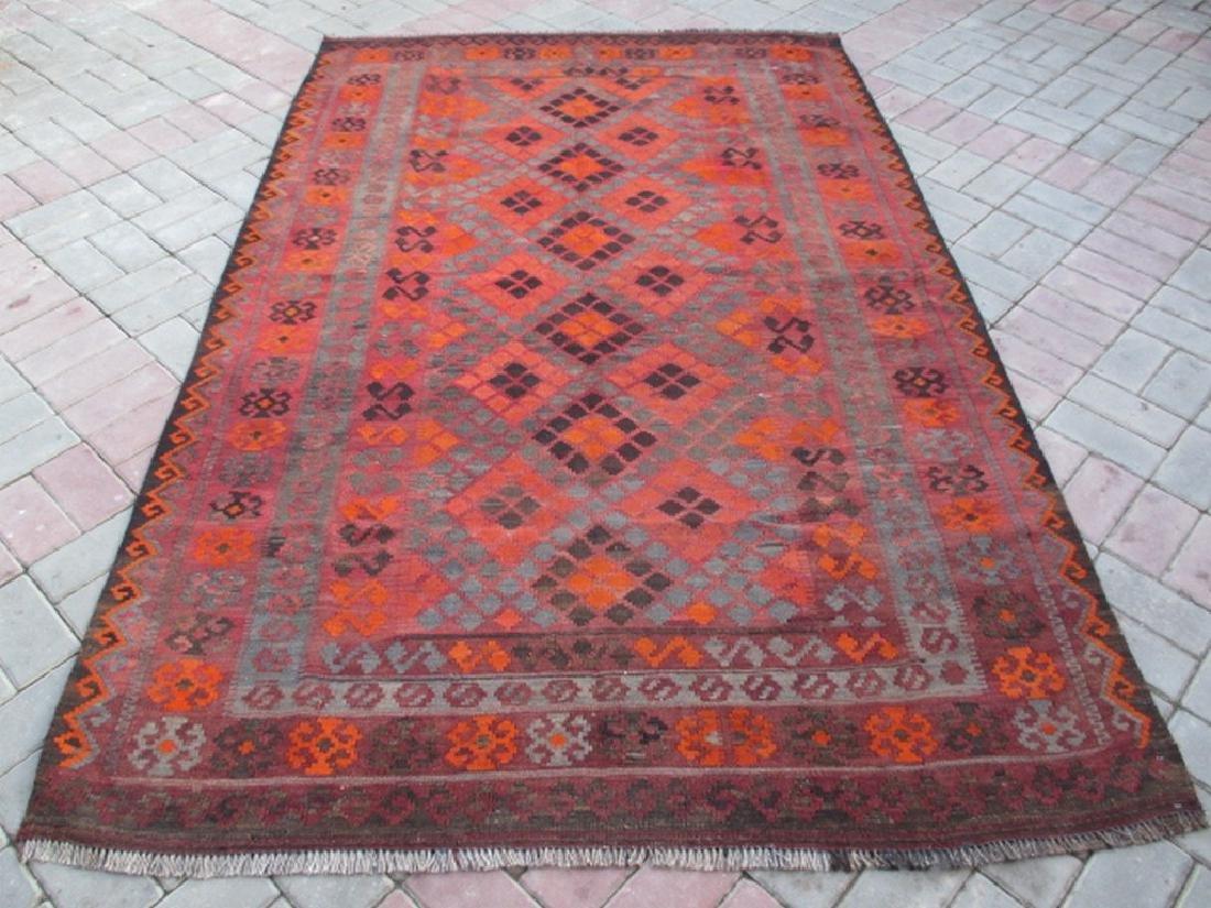 Ghalmori Hand Woven Wool Kilim Rug 8x5