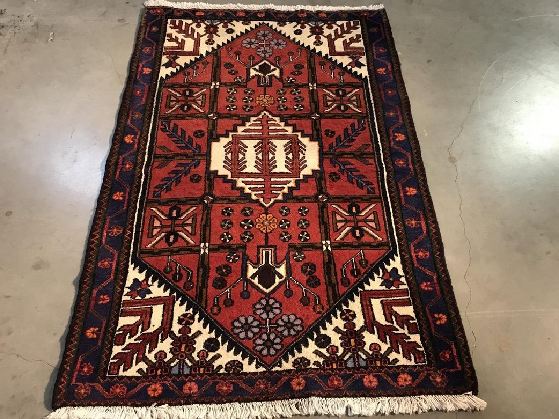 Hand Knotted Wool Persian Rug 3.5x5.1