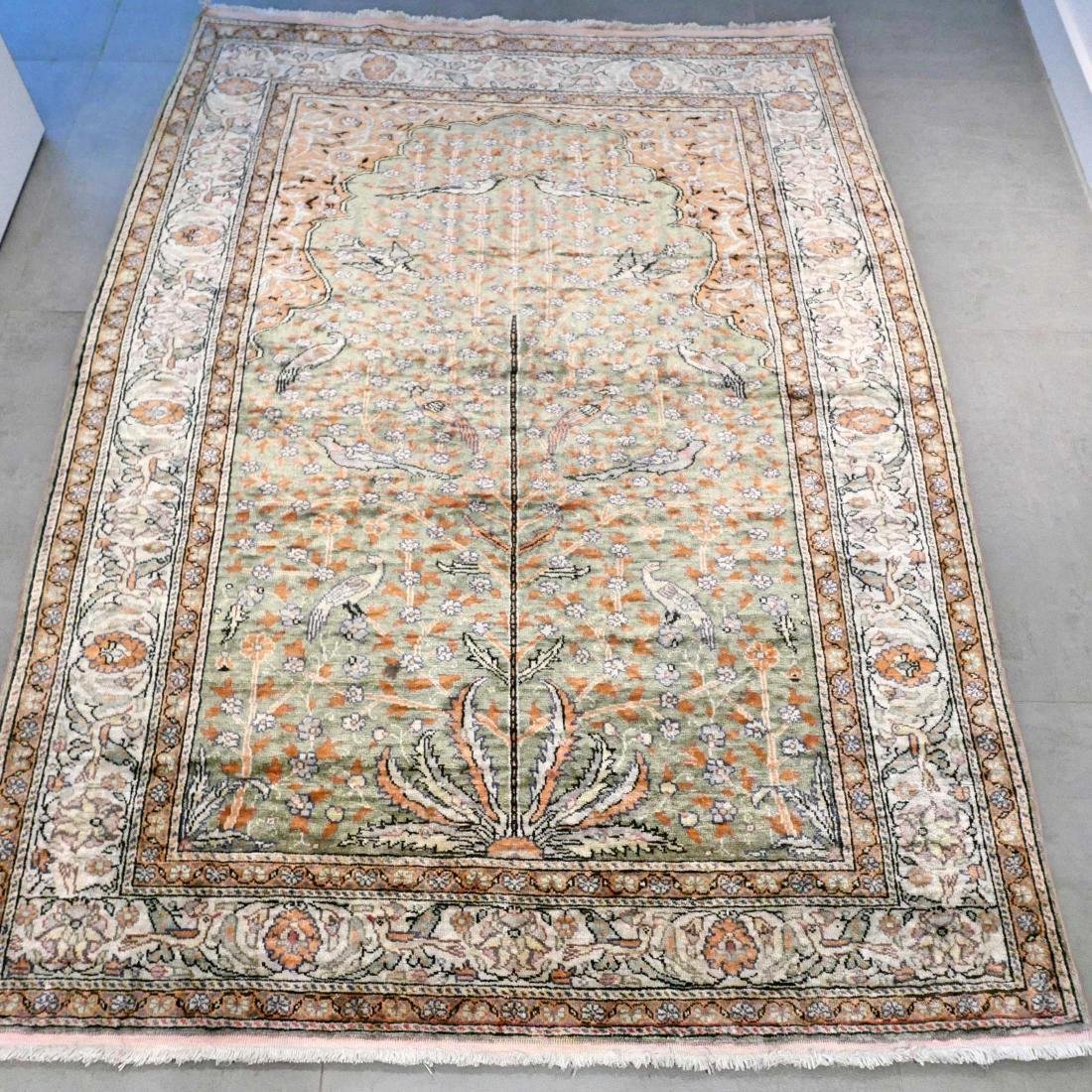 Special Silk Kayseri Silk Hand Knotted Rug 5.6x4.1