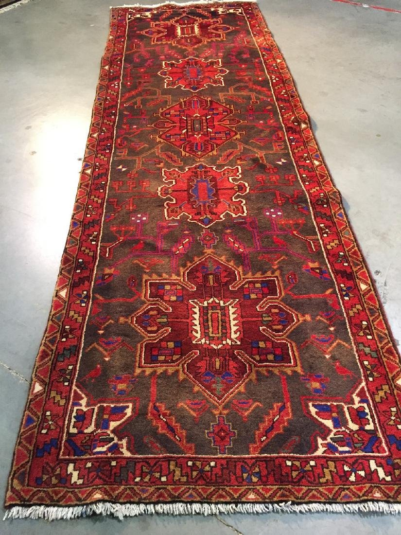 Persian Heriz Wide Runner Rug 3.5x10.6