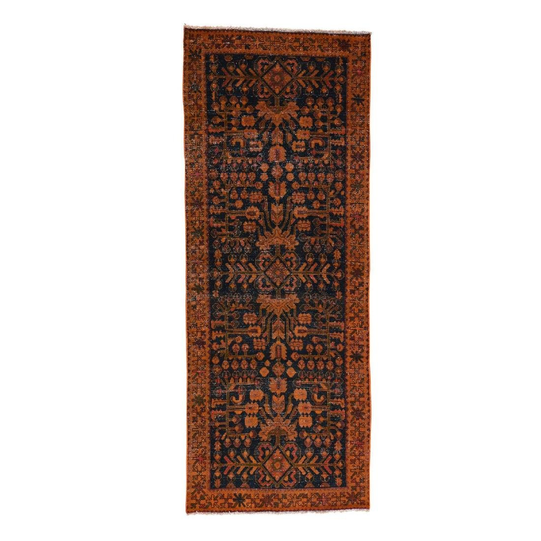 Handmade Persian Lilahan Vintage Runner Rug 3.7x9.4
