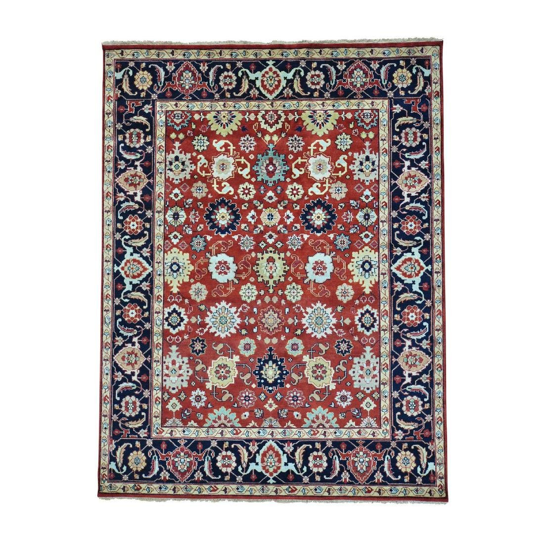 Hand Knotted Mahal All Over Design Wool Rug 9x11.10