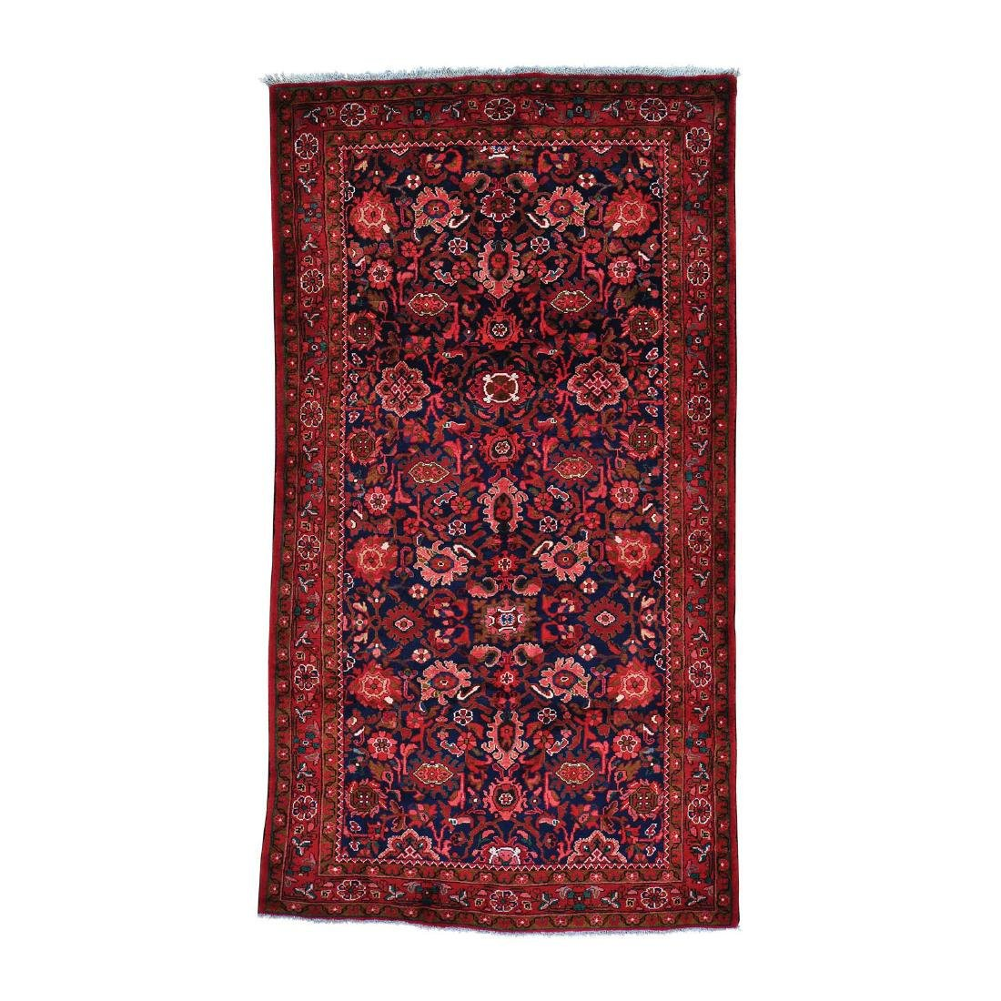 Persian Mahal Wide Runner Wool Hand Knotted Rug 5.4x9.8