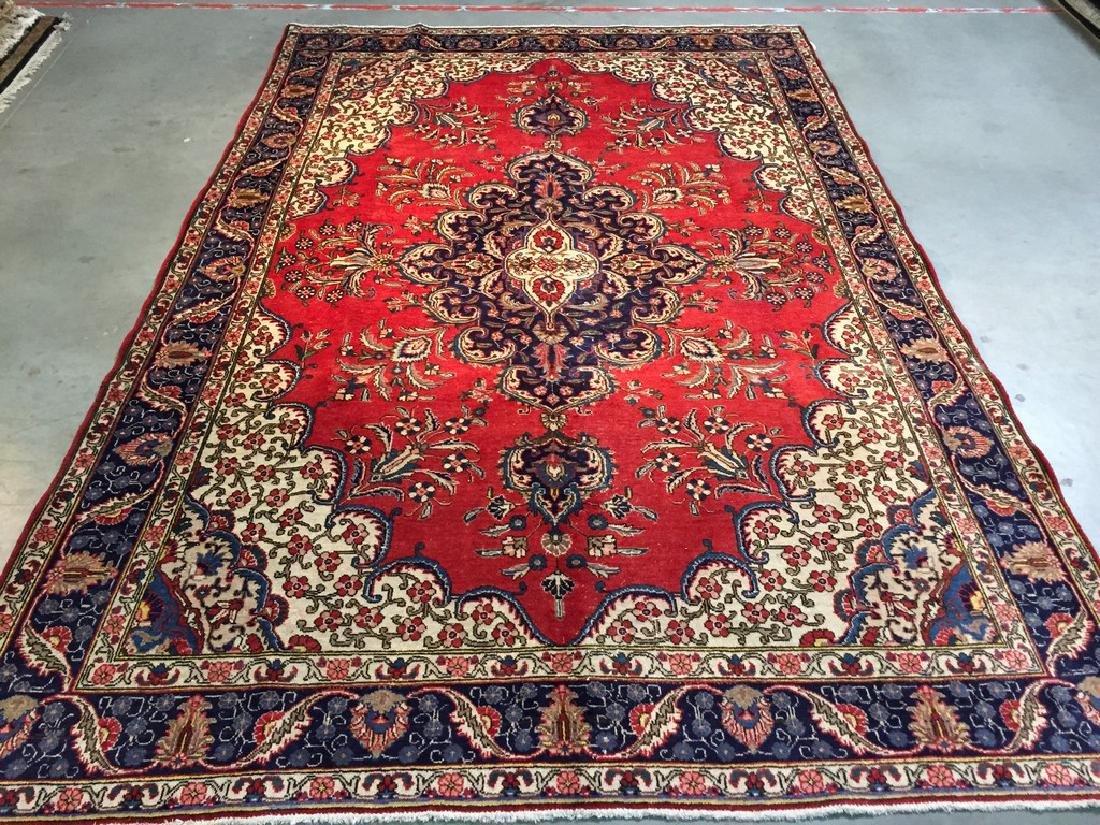 Antique Persian Tabriz Rug 7.7x11.3