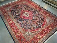 Vintage Persian Kashan Rug 8.3x11.3