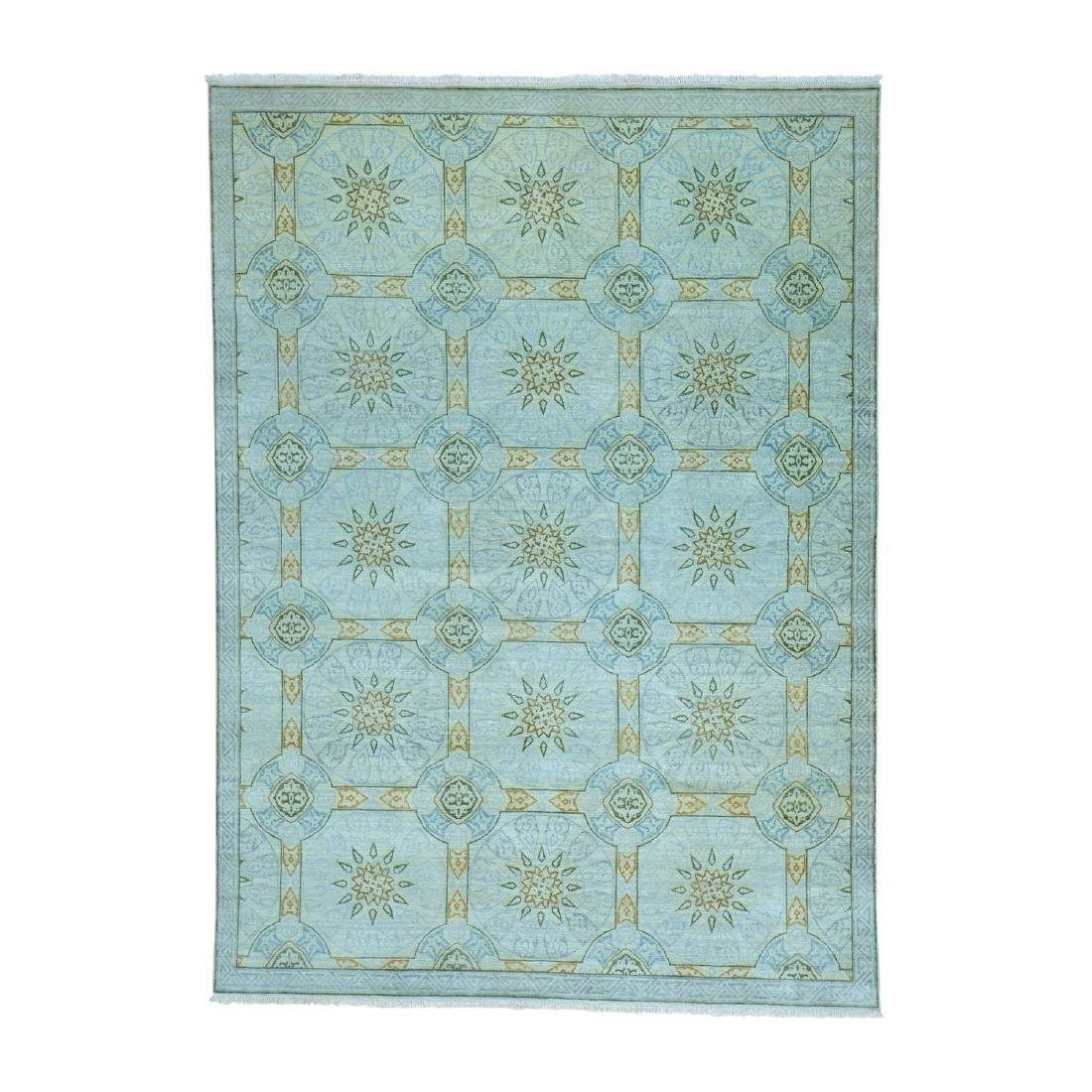 Modern Arts & Crafts Wool Hand Knotted Rug 8.10x12.3