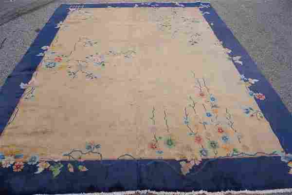 Vintage Hand Made Art Deco Chinese Rug 8.10x11.8