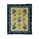 Antique Chinese Peking Dragon Hand Knotted Rug 8x9.8