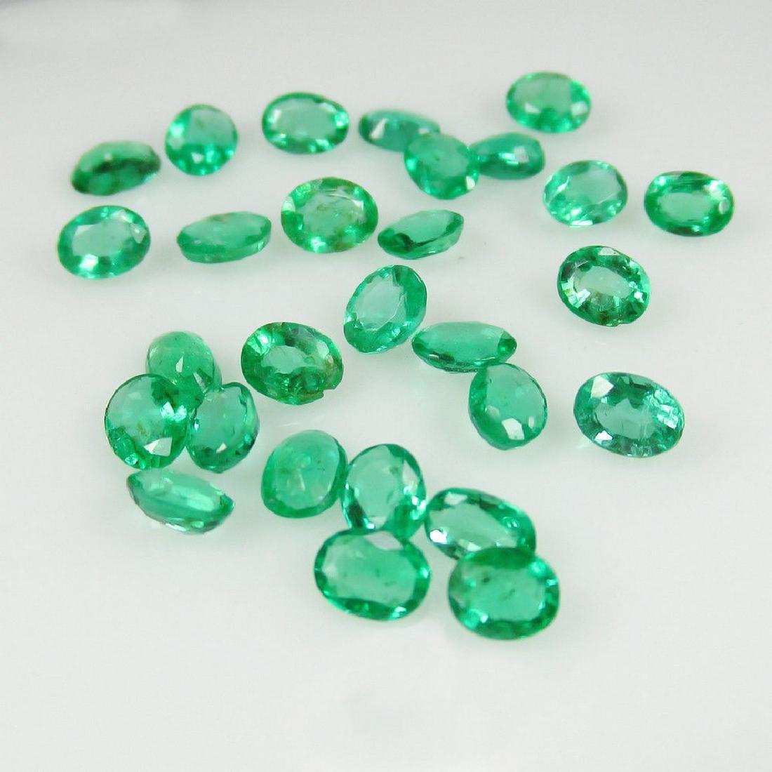3.96 Ctw Natural 28 Loose Zambian Emerald Oval Cut Lot