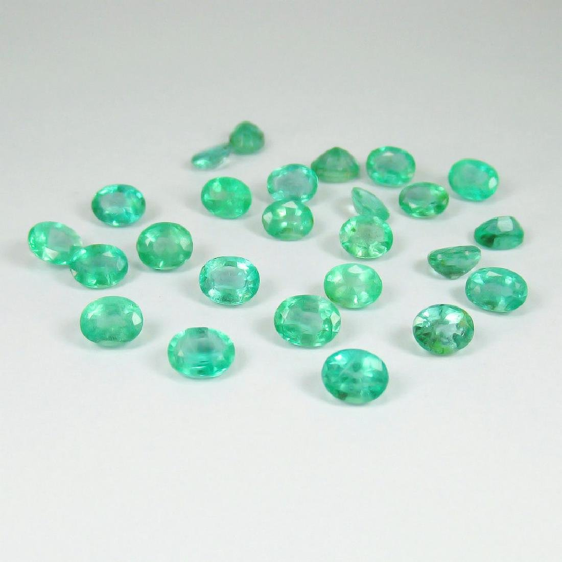 9.67 Ctw Natural 25 Loose Emerald Oval Lot