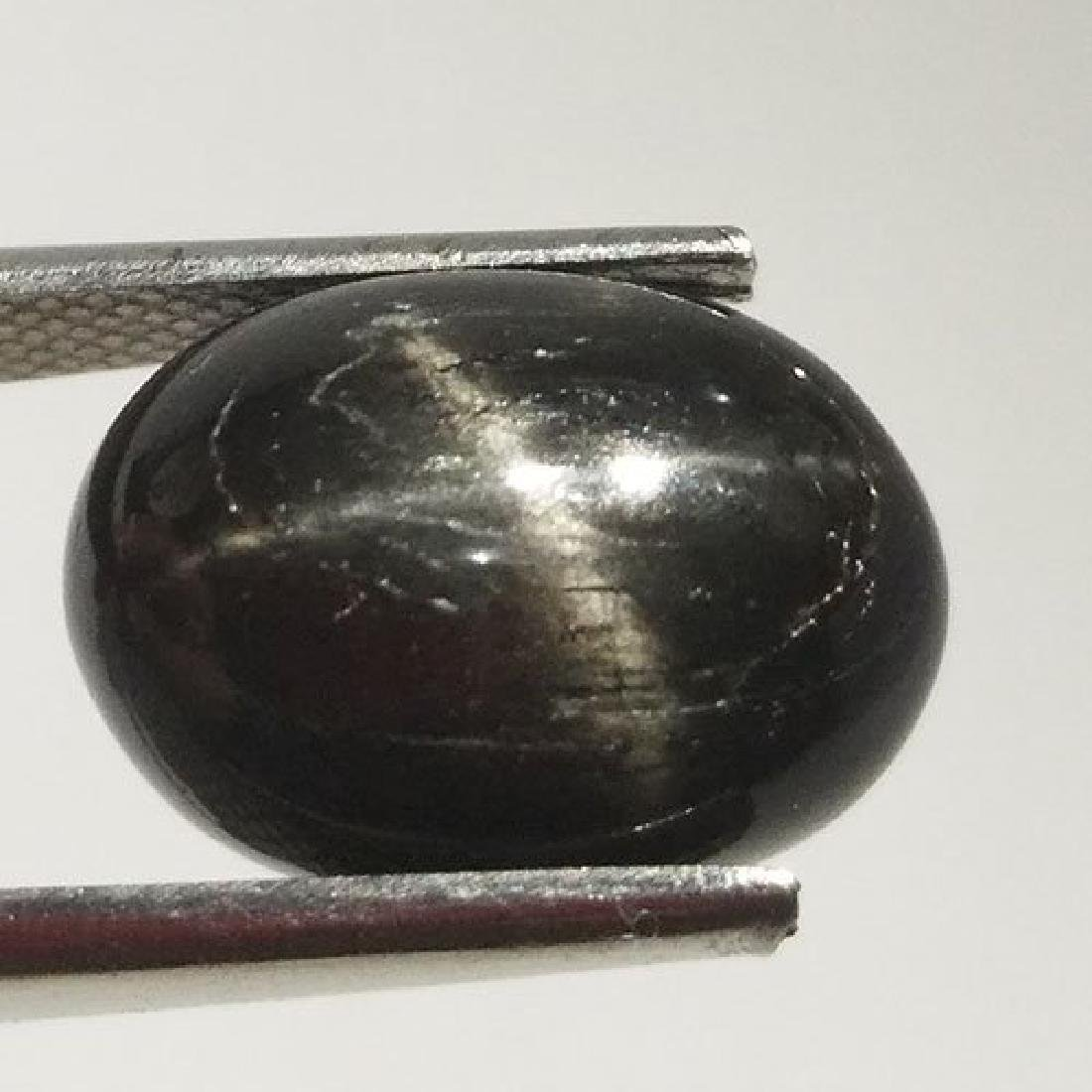2.05 CTS NATURAL BLACK STAR SAPPHIRE OVAL SHAPE