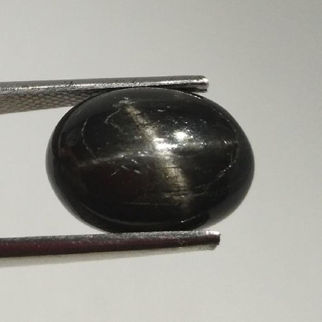 1.75 CTS NATURAL BLACK STAR SAPPHIRE OVAL SHAPE