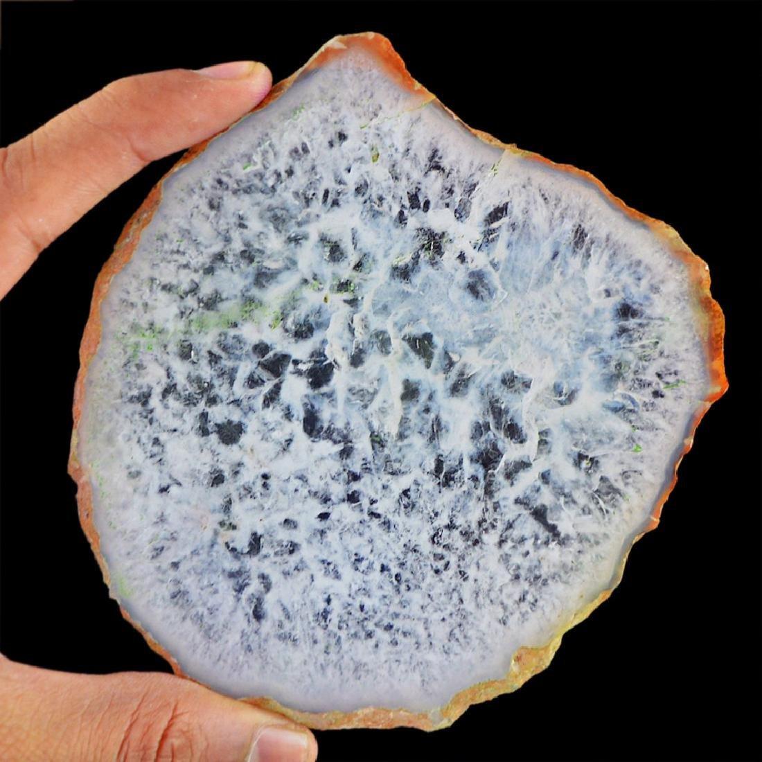 White Slice Agate Gemstone