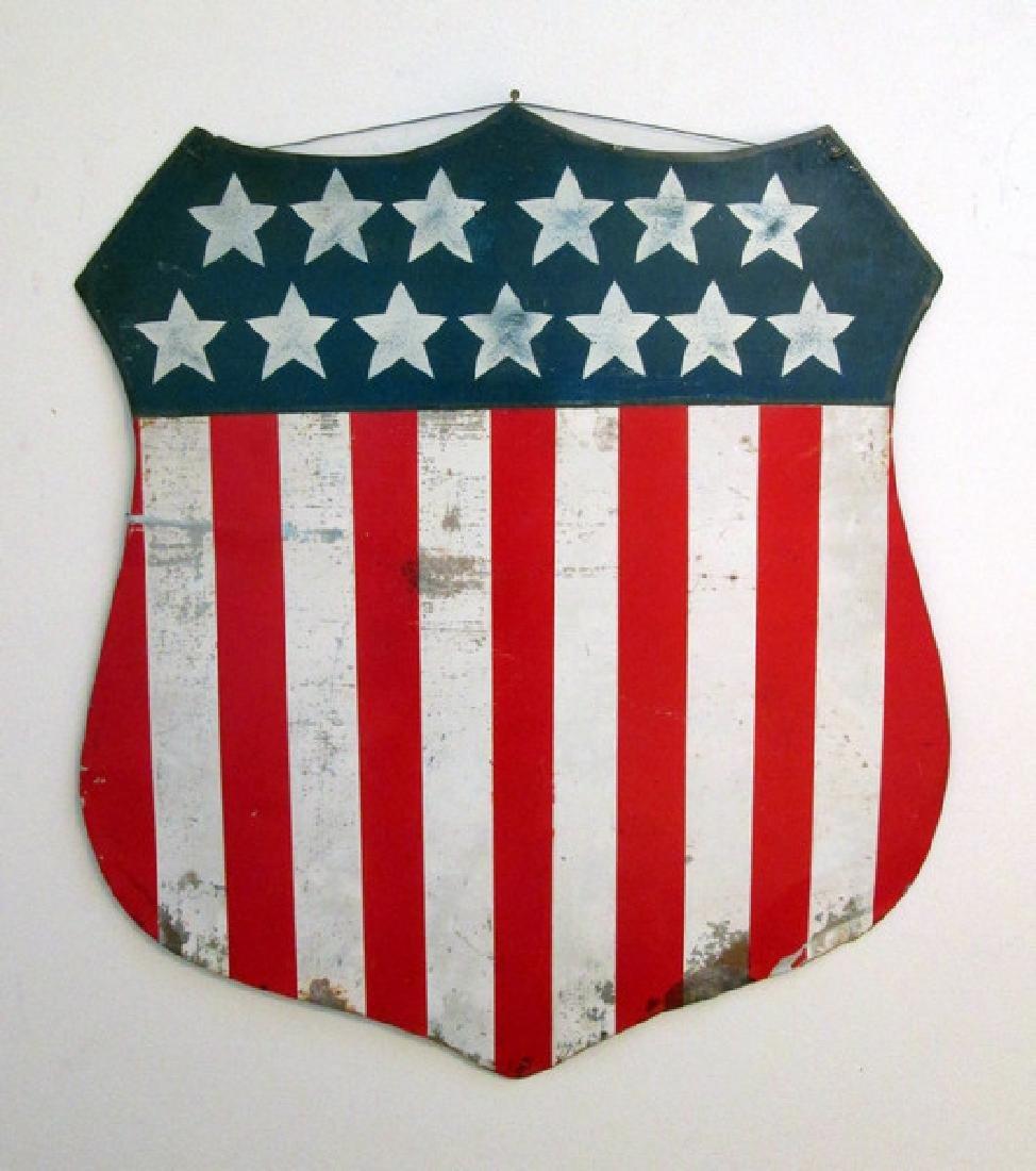 Early Patriotic Shield Plaque