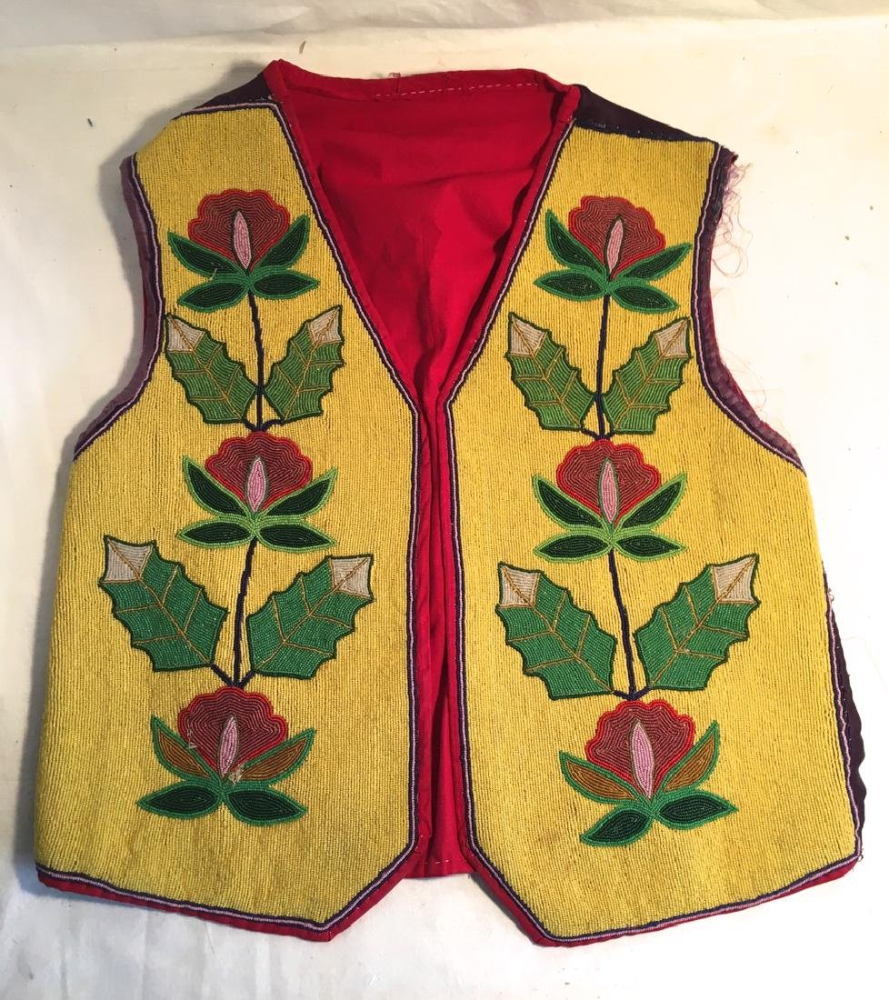 Late 19th Century Native American Beaded Vest