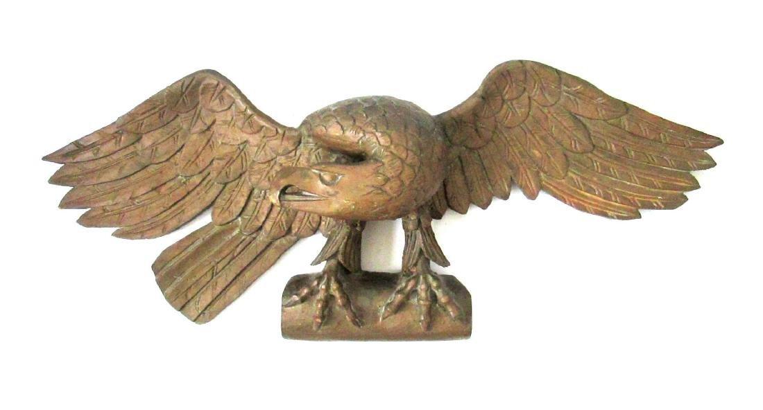 C 1820-40 Carved Eagle Plaque