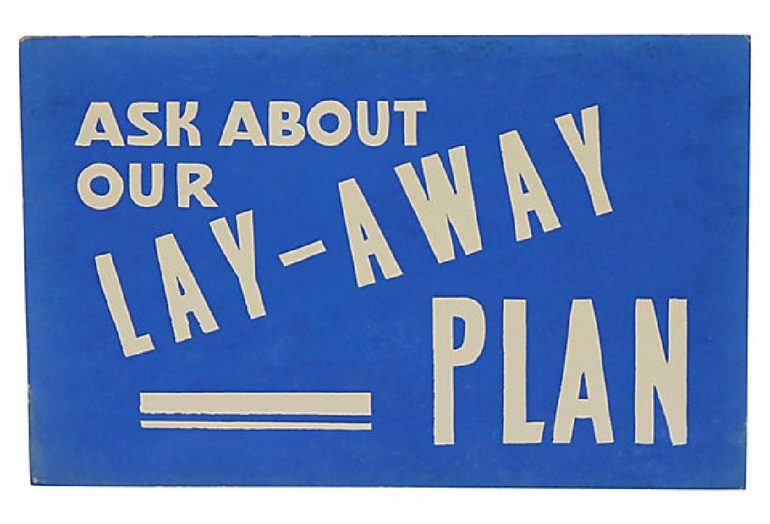Lay-Away Sign